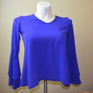 Boohoo Size 4 Bell Sleeves Blouse Top